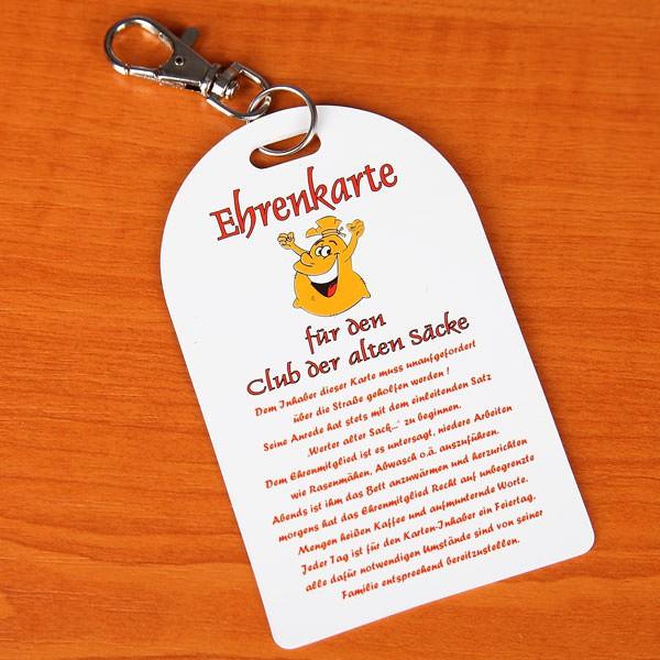 Ehrenkarte für den Club der alten Säcke