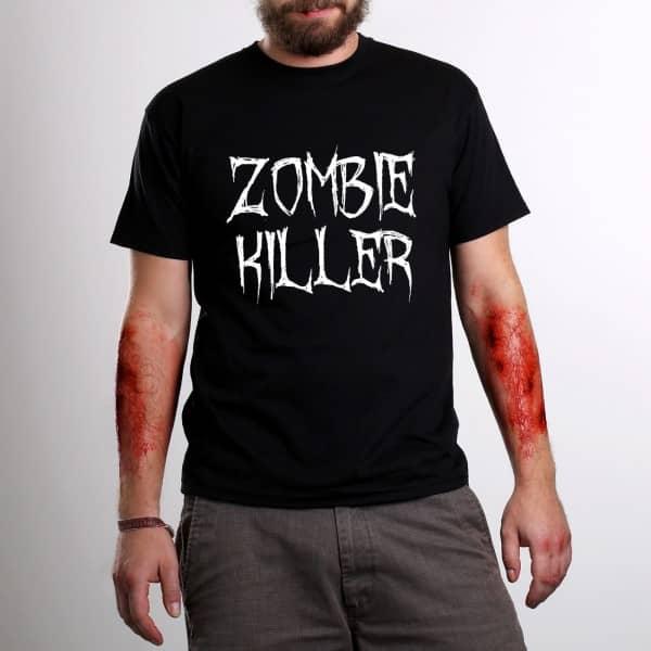 Schwarzes T-Shirt mit Ihrem Wunschtext zu Halloween