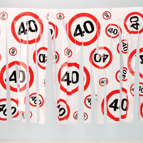 Fransen Girlande 40 Verkehrsschild
