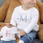 Babypullover mit Initiale und Name für Mädchen oder Jungen