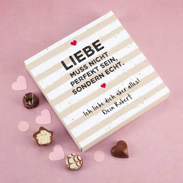 Liebe muss echt sein - 100 g Lindtpralinen zum Valentinstag