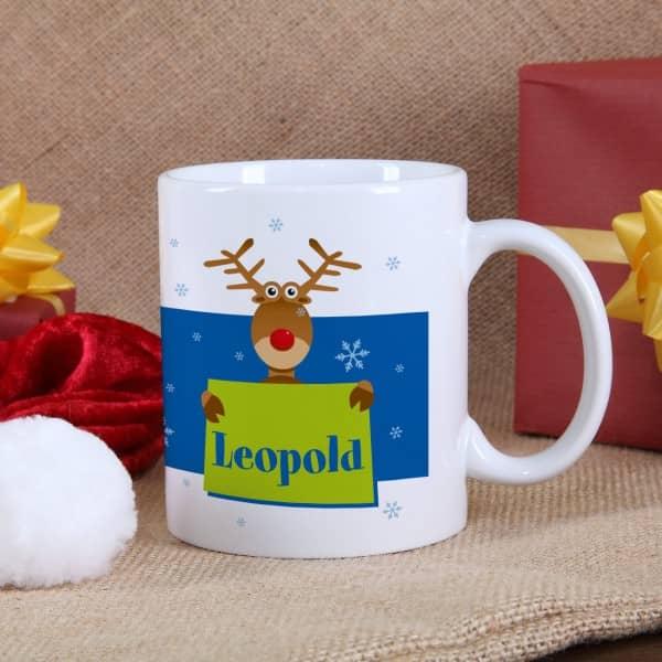 Tasse Weihnachtselch für Jungen
