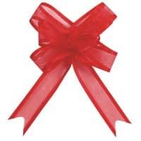 5 Schleifenbänder aus Organza in Rot