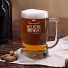 Bierseidel mit Namensgravur - Bier ist die Antwort