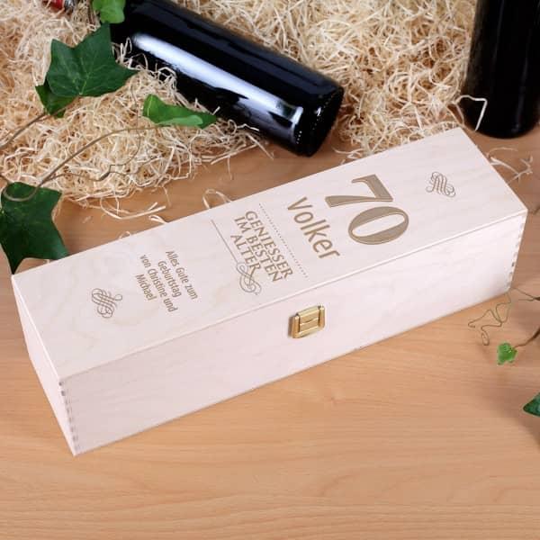 Weinverpackung für Geniesser im besten Alter