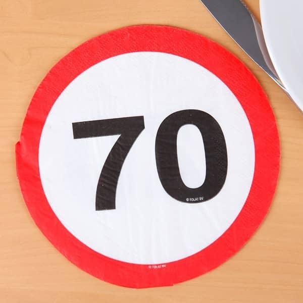 Servietten zum 70. Geburtstag