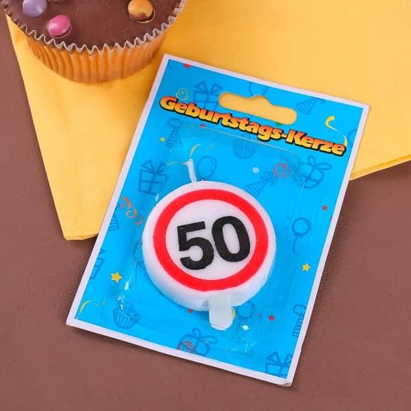 Tortenkerze zum 50. Geburtstag