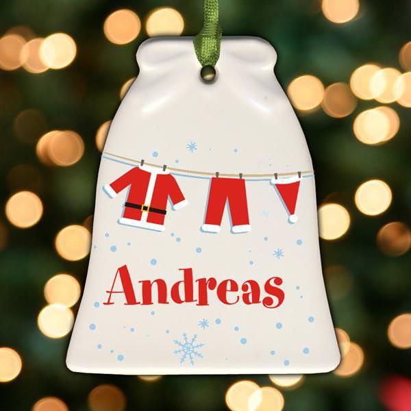 Weihnachtsglocke mit Wunschname