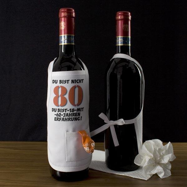 Mini Schürze zum 80. für Flaschen