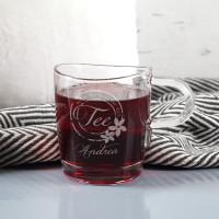 Teeglas - Nimm dir Zeit für dich - mit Name