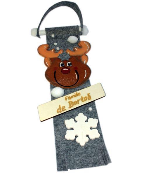 personalisiertes Türschild zu Weihnachten