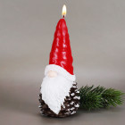 große Kerze Weihnachtswichtel