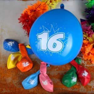 luftballons zum 16 geburtstag geschenke. Black Bedroom Furniture Sets. Home Design Ideas