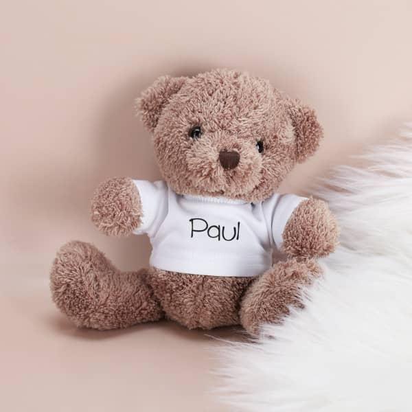 Teddybär mit Namensshirt