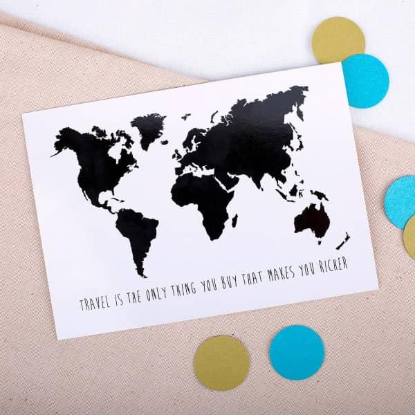 Postkarte - Weltenbummler