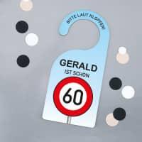 Türhänger zum Geburtstag mit Verkehrszeichen