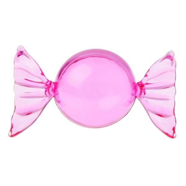 6 Deko Kugeln zum Befüllen in Bonbonform in Pink