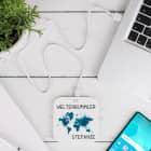 Wireless Charger - Ladegerät mit Weltenbummler-Motiv