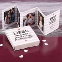 Mini Fotobuch in passender Box - Liebe muss echt sein