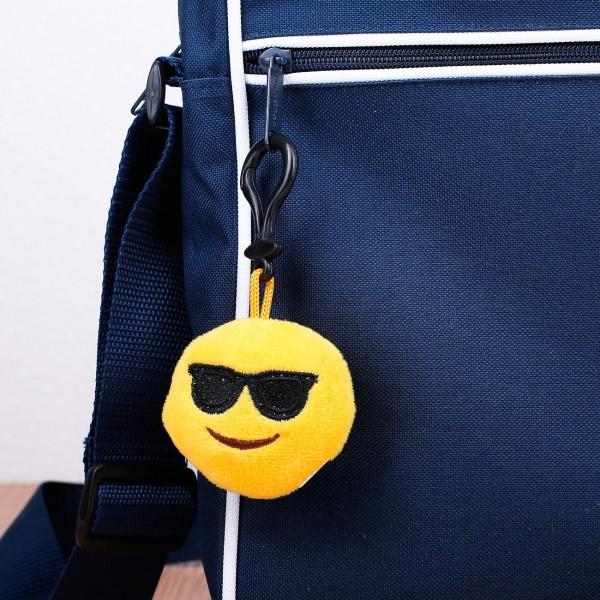 Mini Emoticon-Schlüsselanhänger mit Sonnenbrille