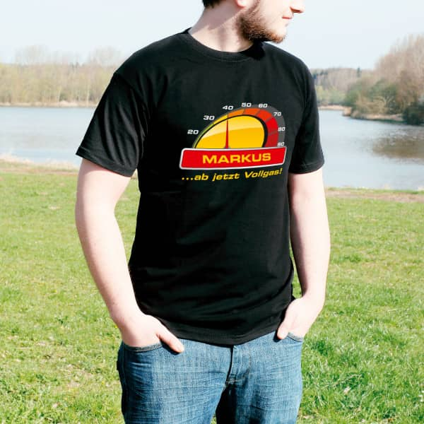 T Shirt zum 40. Geburtstag ab jetzt Vollgas