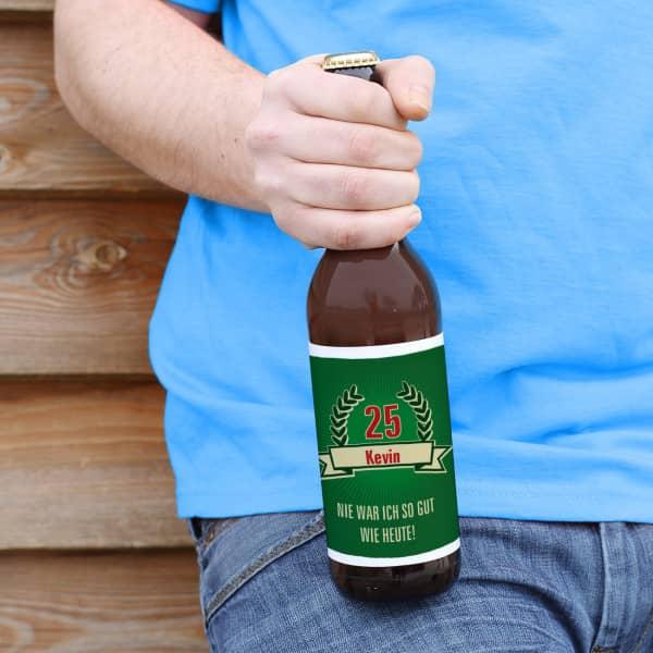 Bieraufkleber zum Geburtsatg mit Wunschname und Alter