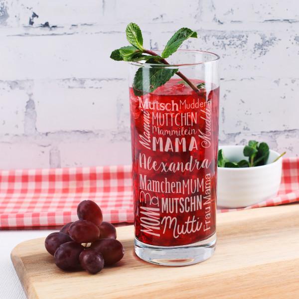 Trinkglas für die Mama mit verschiedenen Bezeichnungen