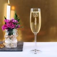 graviertes Sektglas Happy New Year mit Wunschname