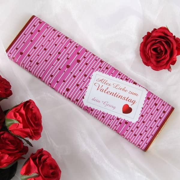 riesige Milchschokolade mit Wunschname zum Valentinstag