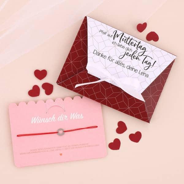 - Wunscharmband für die Mama in persönlicher Box Pfeif auf Muttertag - Onlineshop Geschenke online.de