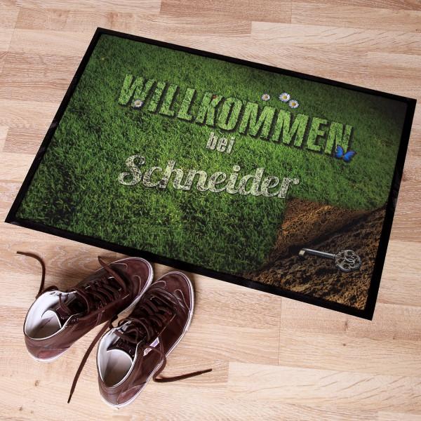 Personalisierter Fußabtreter Wiese