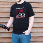 Witziges Männer-T-Shirt mit Spaßaufdruck