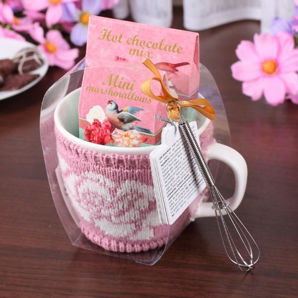 4-teiliges Geschenkset mit Strickkleid für die Tasse