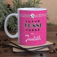 Individuelle Tasse mit Namensaufdruck für die Tussi