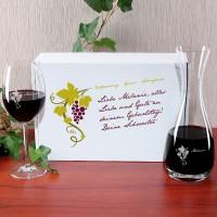 Geschenkset von Leonardo für Weinliebhaber mit Wunschnamen graviert
