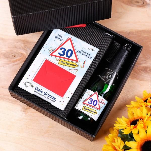 Buchset mit kleiner Flasche zum 30. Geburtstag