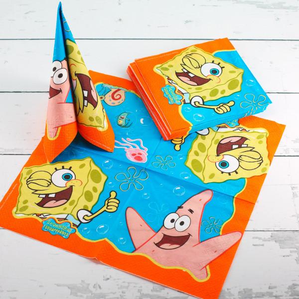 20 Servietten Spongebob Schwammkopf