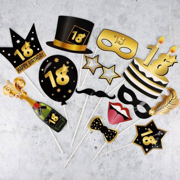 Foto Set Star - Accessoire zum 18. Geburtstag