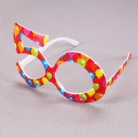Rote Party Brille - 50