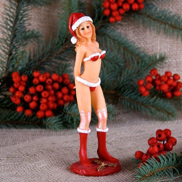 Sexy Weihnachtsgirl Hände hinter dem Rücken