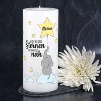 Gedenk-Dauerkerze für Sternenkinder mit Name