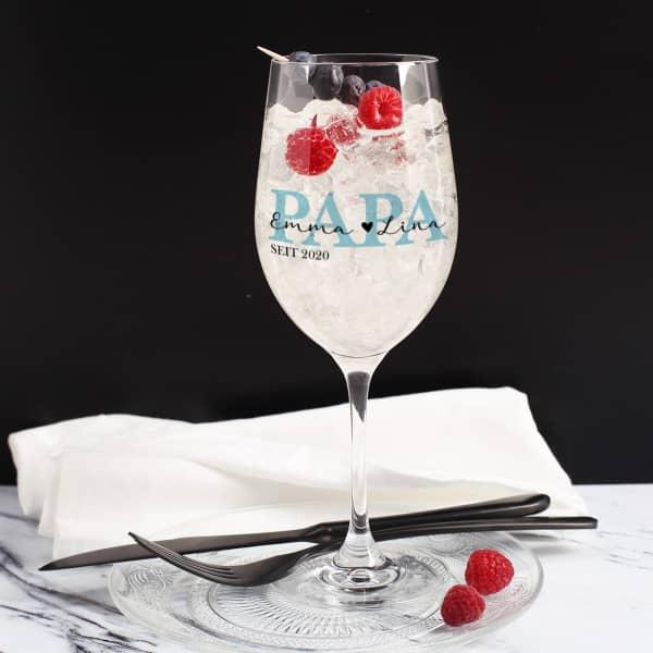 Weinglas für den besten Papa