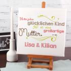 Leinwand 30 x 30 cm zum Muttertag mit Ihren Namen bedruckt