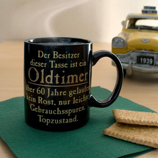 Oldtimer Tasse mit Spruch zum 60. Geburtstag