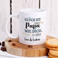 Glück ist, einen Papa wie dich zu haben - Tasse mit Wunschtext
