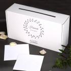 Schlichte Kartenbox - In stillem Gedenken - mit Name und Datum
