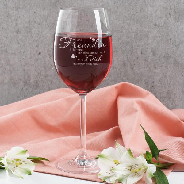 Individuellküchenzubehör - Weinglas für die beste Freundin - Onlineshop Geschenke online.de