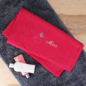 Handtuch mit Stick von Name