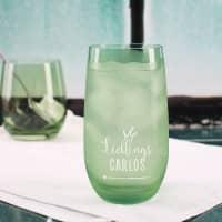 Trinkglas in vier Farben - Lieblings...