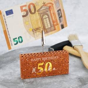 Geldclip als Geldgeschenk zum Geburtstag